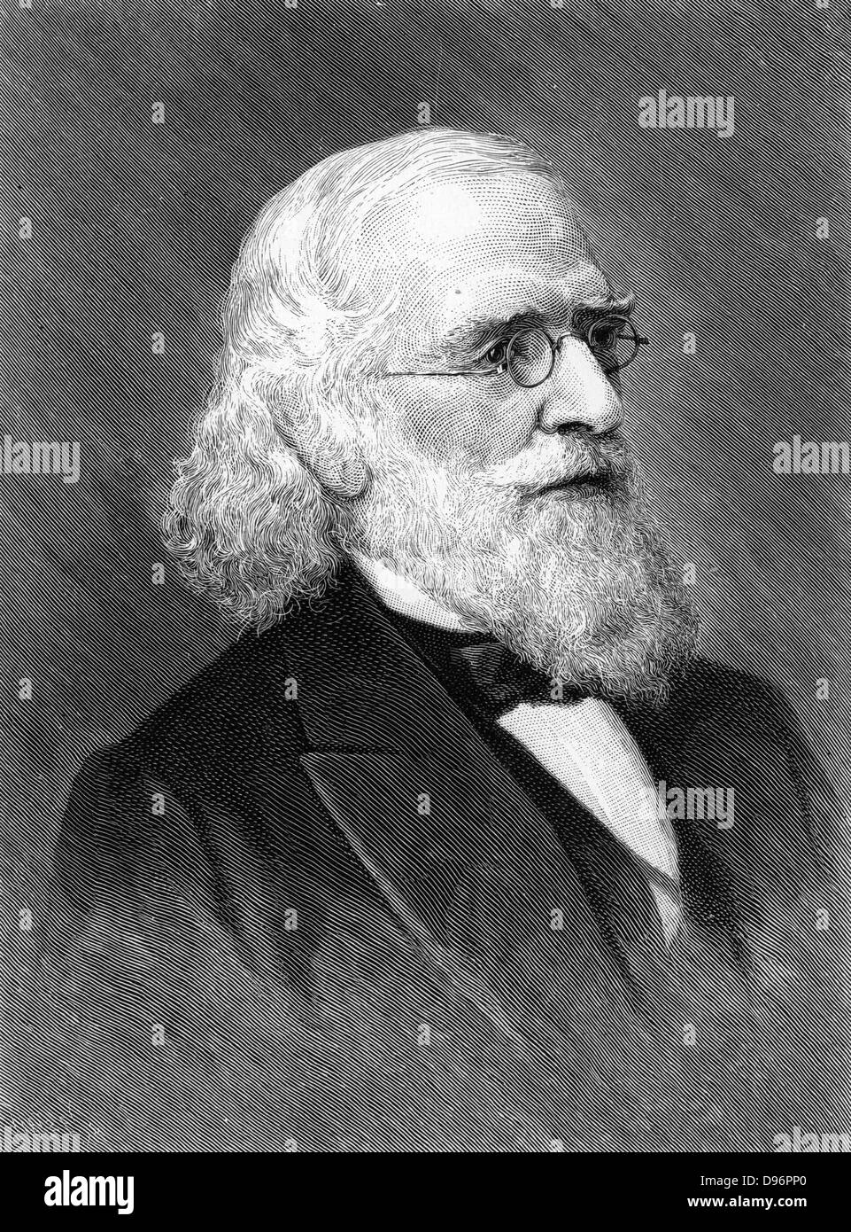 Isaac Lea (1792-1886) American publisher, geologist and conchologist. [1896]. President Academy of Natural Sciences, - Stock Image
