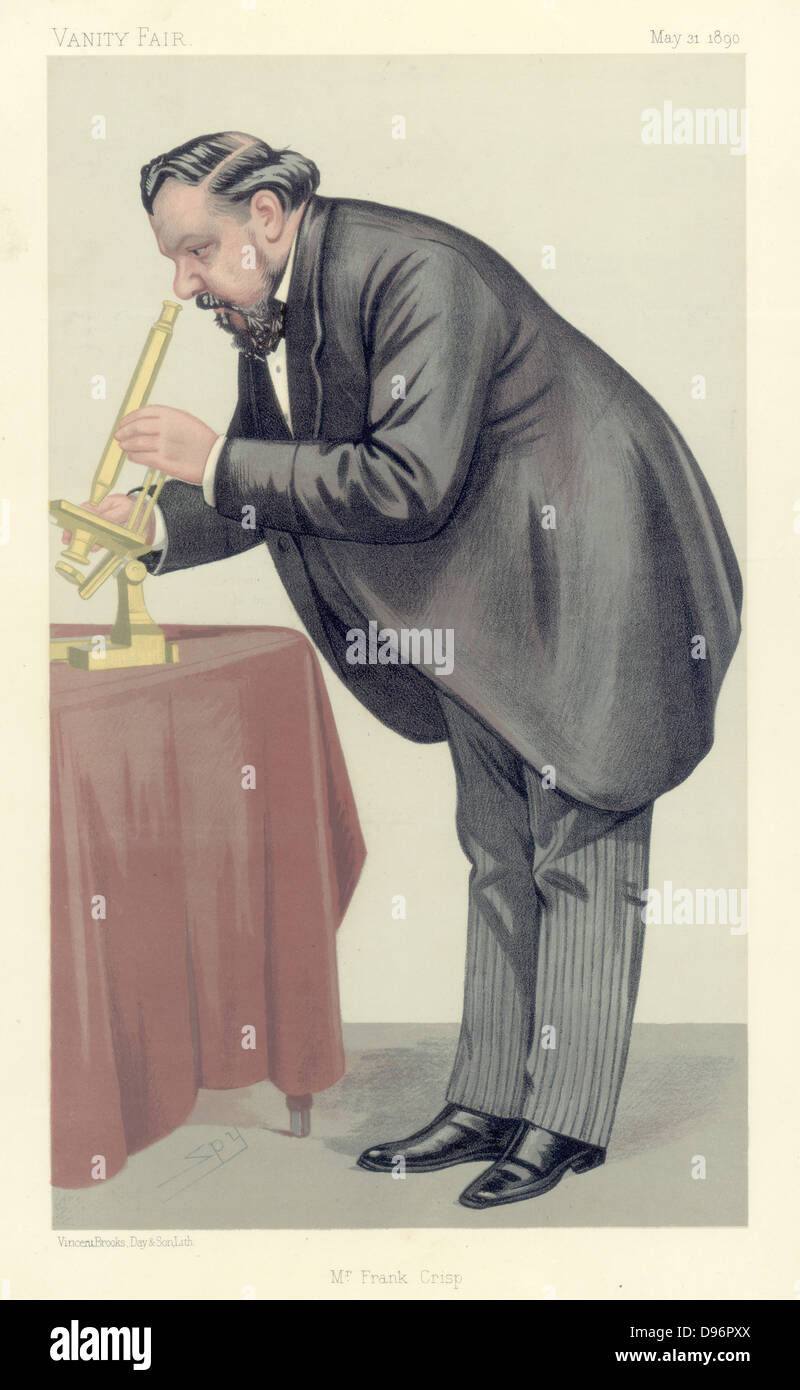 Mr Frank Crisp' (c1853-1919), English Limited Liability Lawyer one of whose personal interests was microscopy - Stock Image