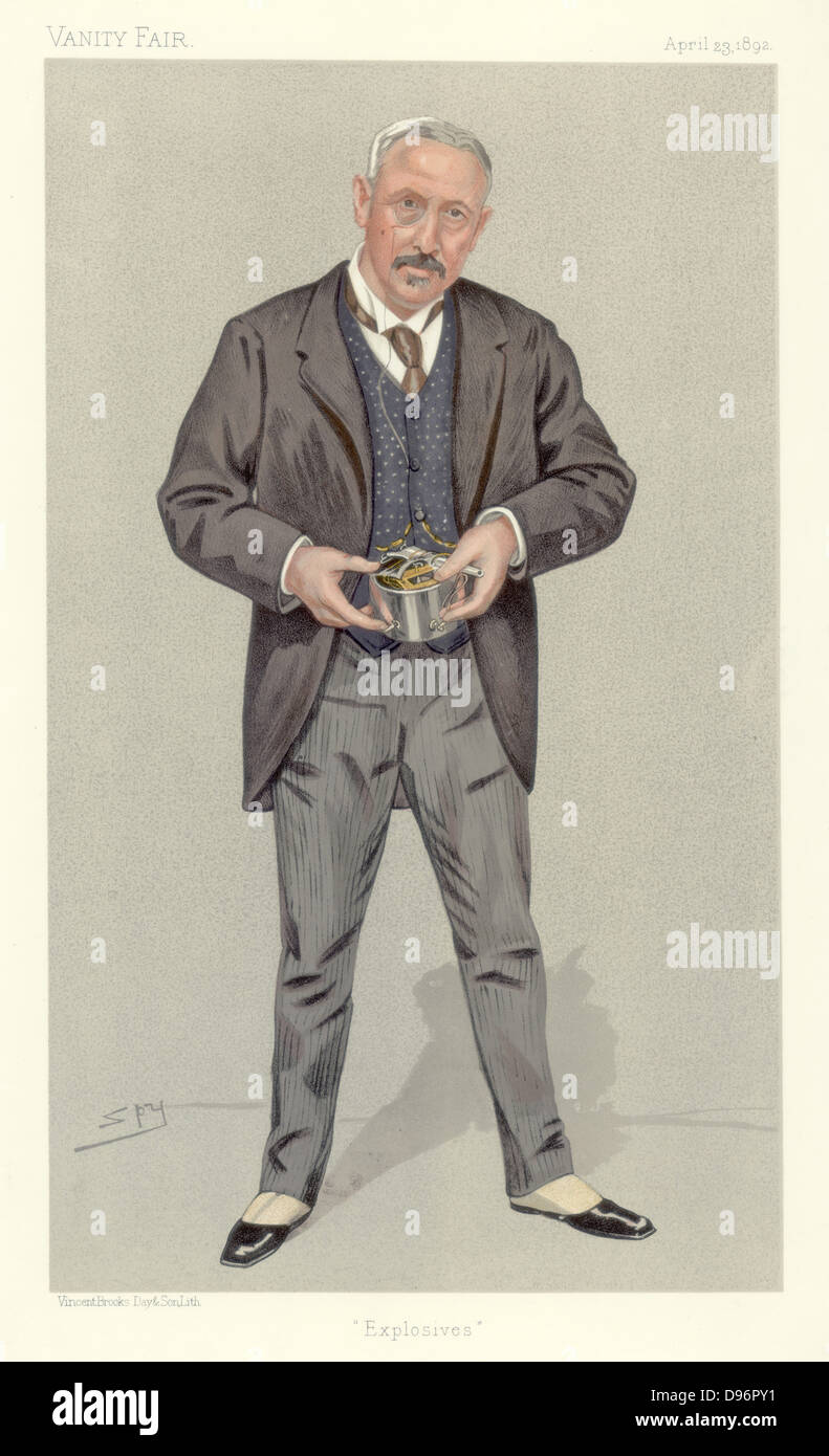 Explosives'. Colonel Vivian Dering Majendie (1836-1898), Chief Inspector of Explosives. British soldier who - Stock Image