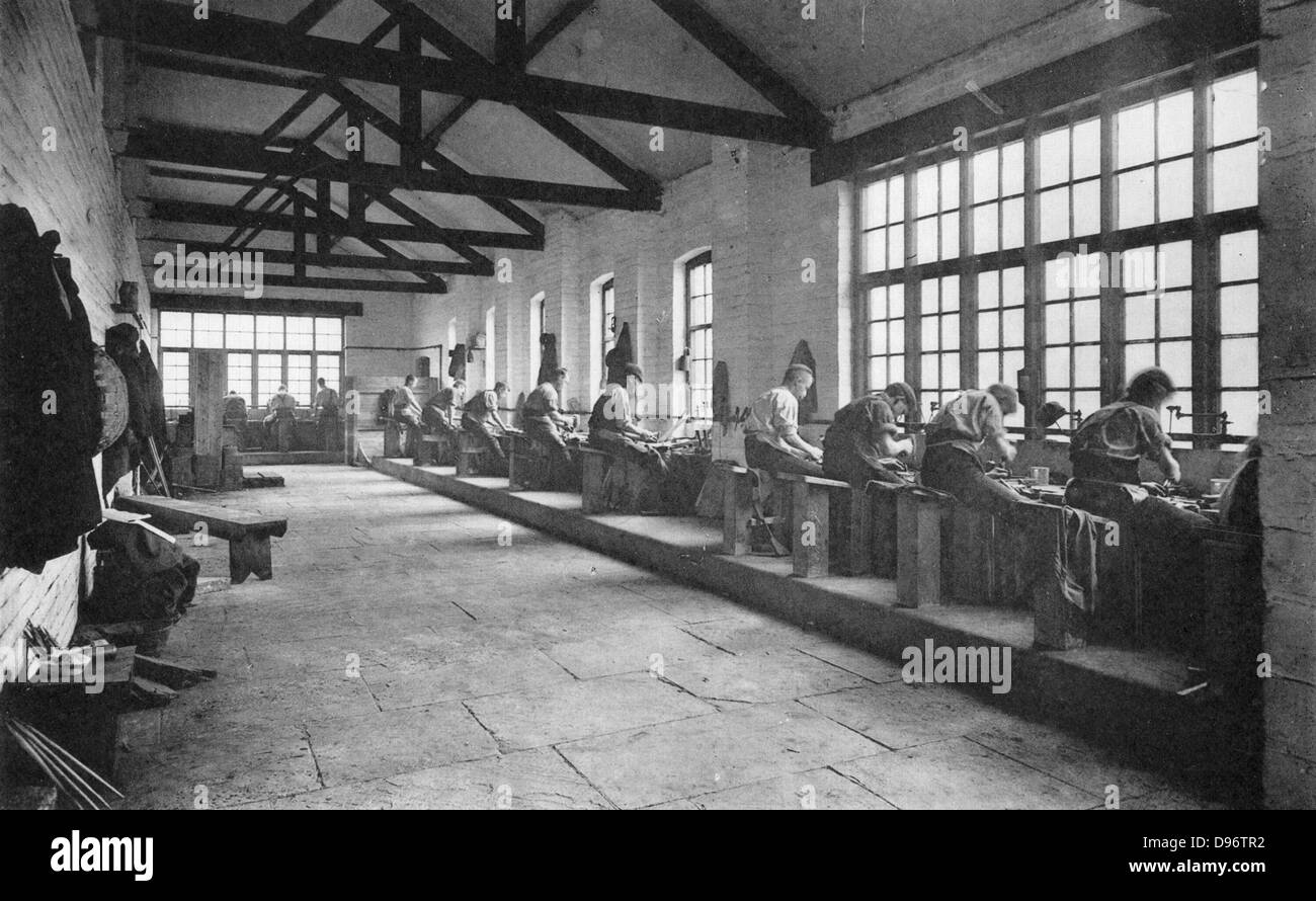 The New File Factory, Thomas Firth & Sons Norfolk Works, Sheffield, c1890. - Stock Image