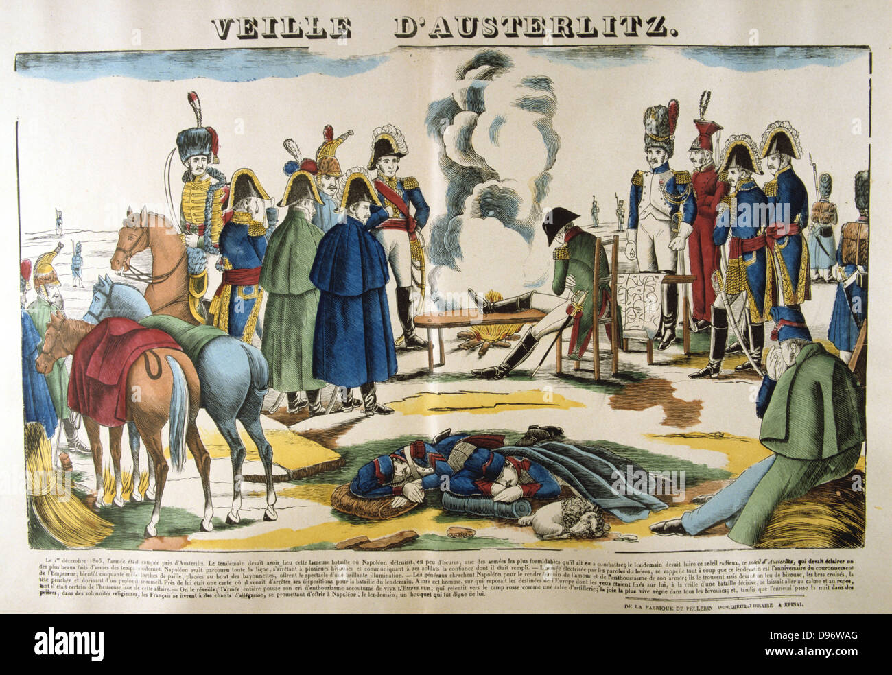 Napoleon on the evening before Austerlitz. The Battle of Austerlitz (Bitva u Slavkova) also known as the Battle - Stock Image