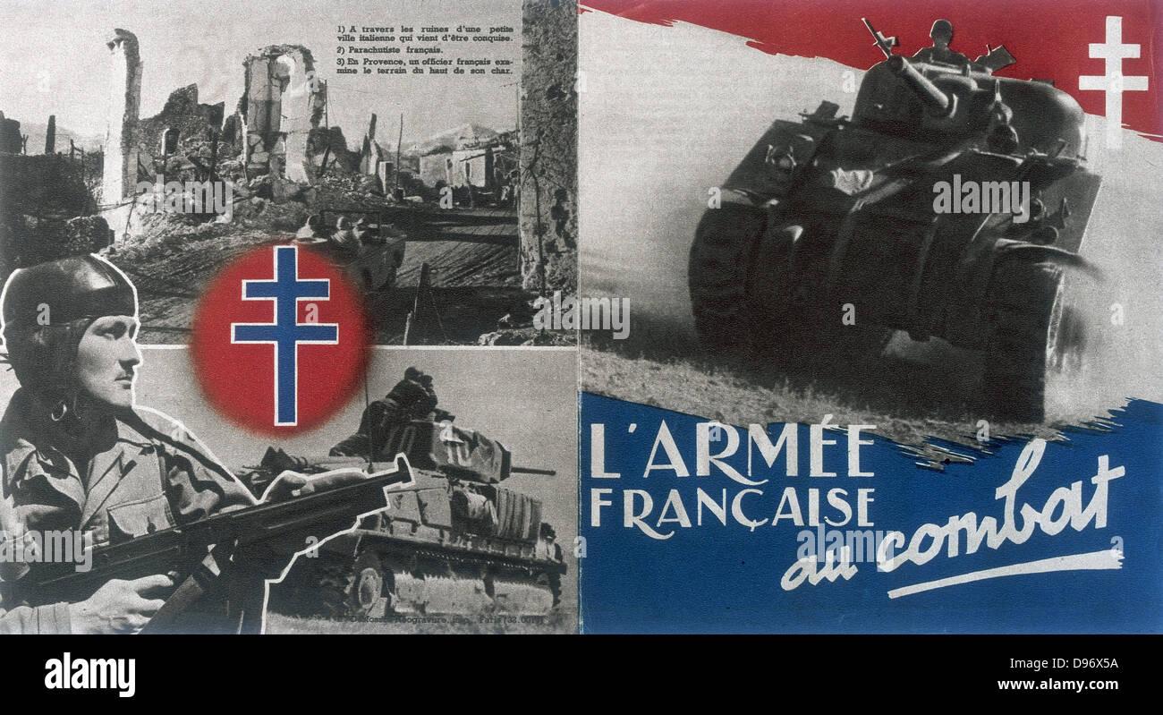 Resistance propaganda during World War II France - Stock Image