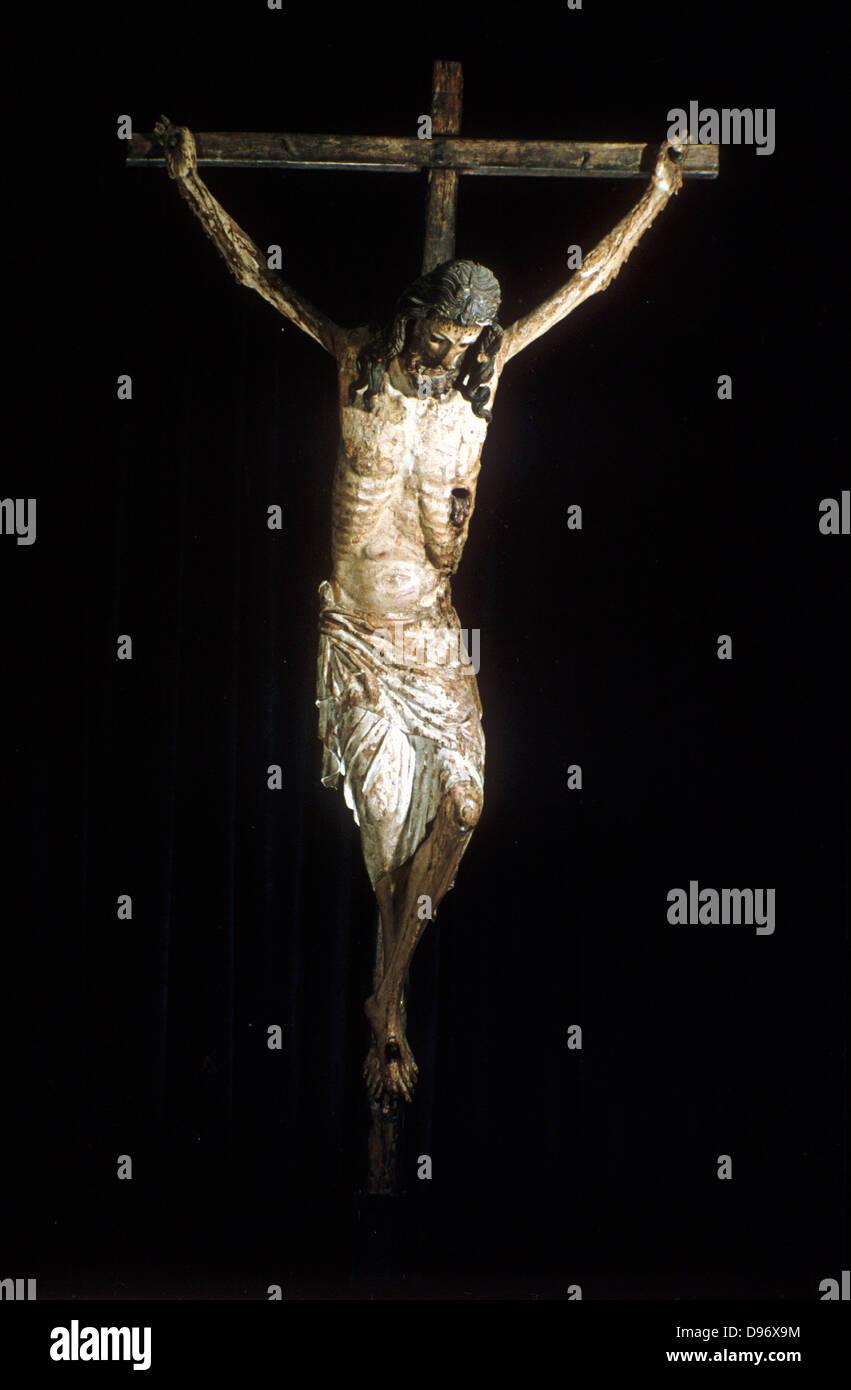 A 14th Century Cross Christ on the c...
