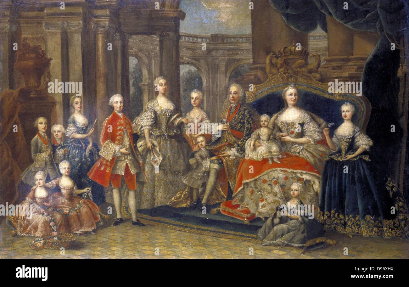Austrian Royal Family': Maria Teresa (1717-1780) Holy Roman Empress,