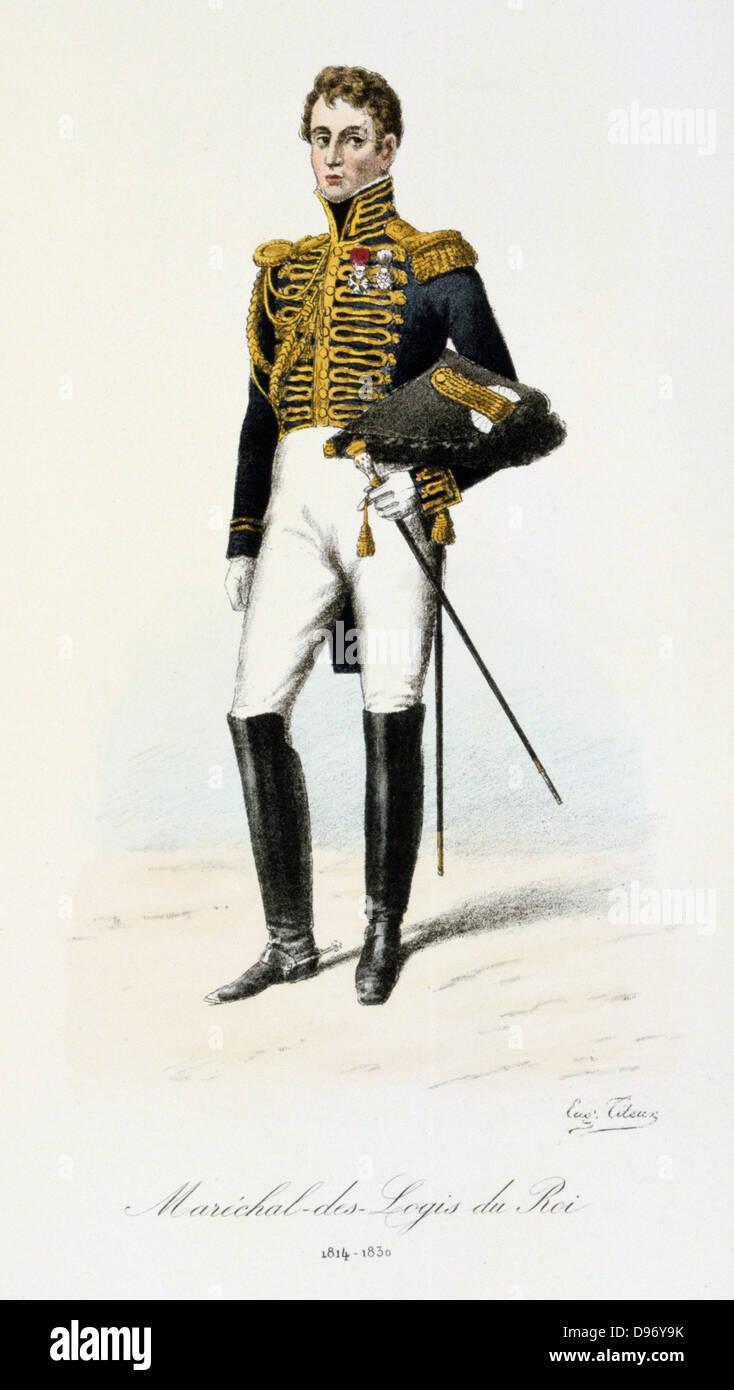 Marshall of the Royal Houshold. From 'Histoire de la maison militaire du Roi de 1814 a 1830' by Eugene Titeux, - Stock Image