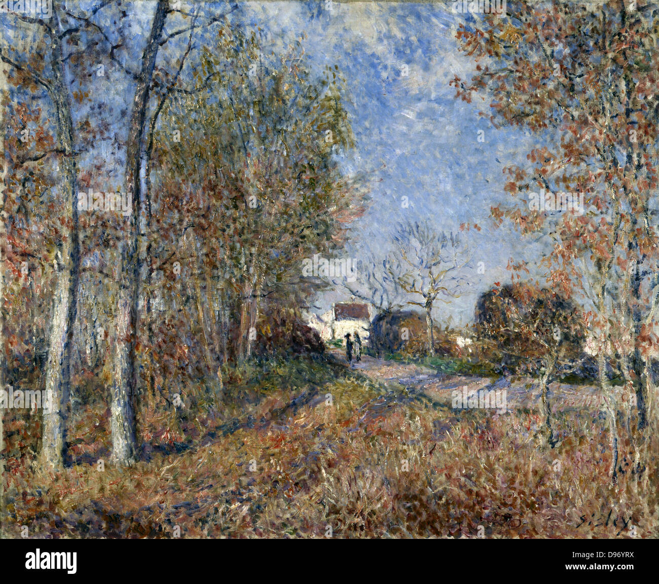 A Corner of the Woods at Sablon' 1883: Alfred Sisley (1839-1899) French painter. Oil on canvas. - Stock Image