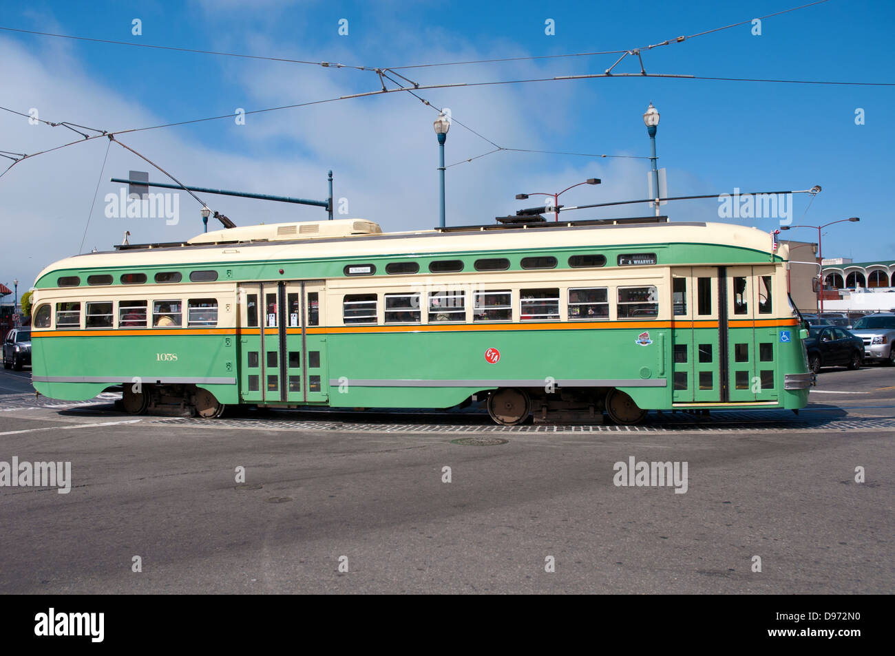 Cable Car in San Francisco, California - Stock Image