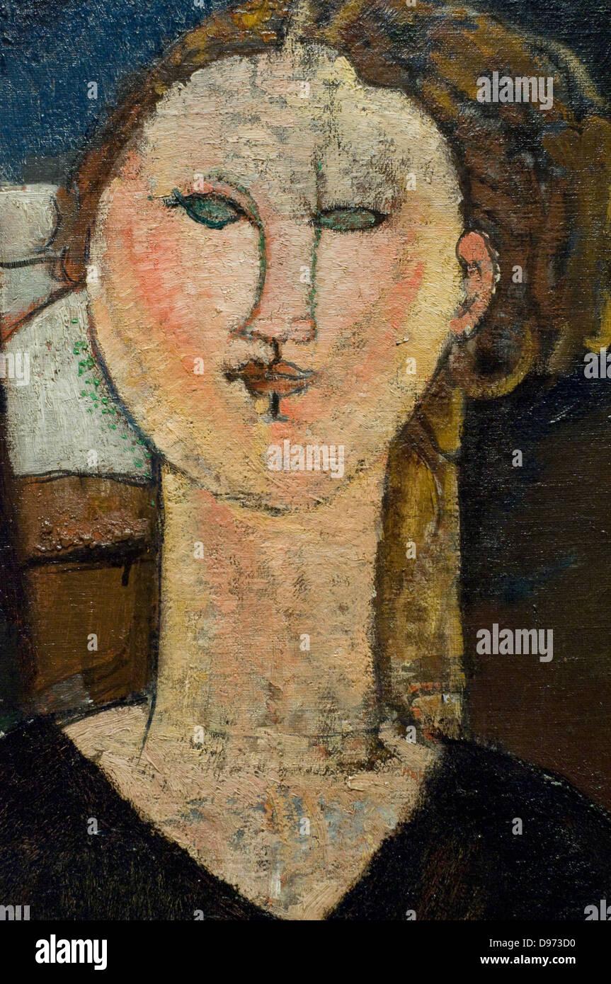 Amedeo Modigliani Antonia (Détail) 1915 Orangerie Museum - Paris - Stock Image