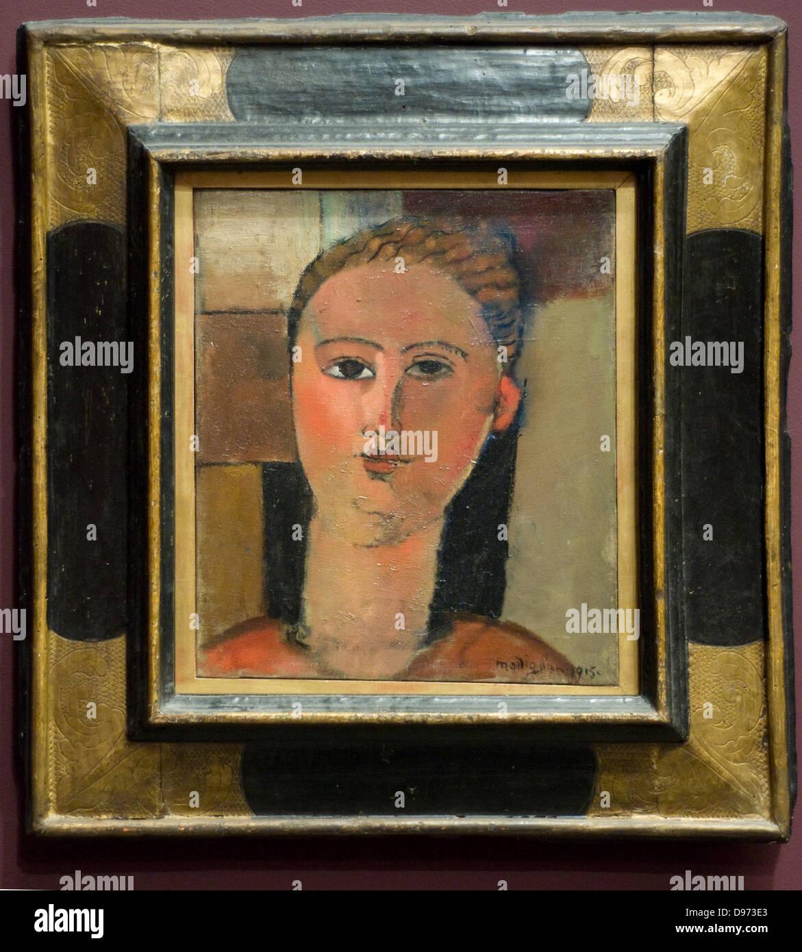 Amedeo Modigliani File rousse - Redhead 1915 Orangerie Museum - Paris - Stock Image