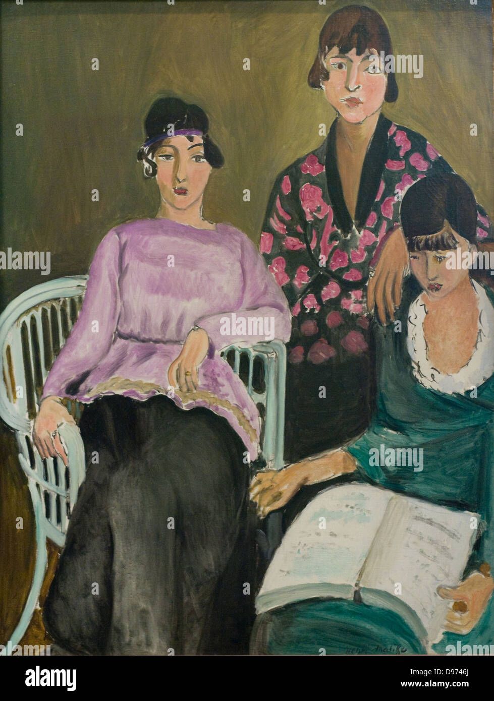 Henri Matisse Les Trois Soeurs 1916-17 XX th Century Paris Orangerie Museum - Stock Image