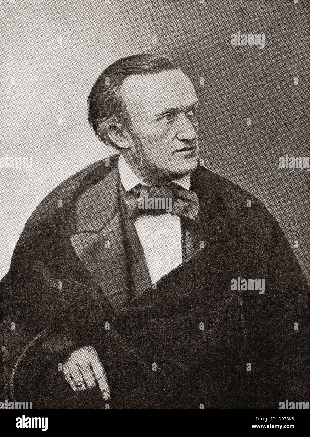 Wilhelm Richard Wagner, 1813 – 1883. German composer, theatre director, polemicist and conductor. - Stock Image