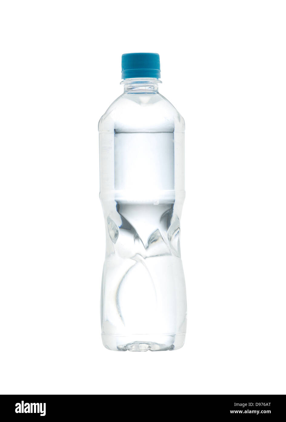 Drinking water bottle with blank label for your advertisement - Stock Image
