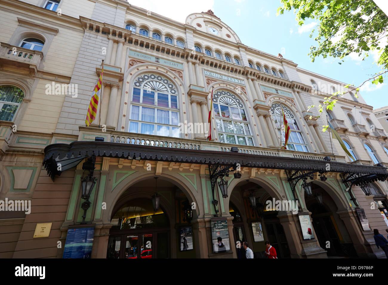 gran teatre del liceu la rambla barcelona catalonia spain - Stock Image