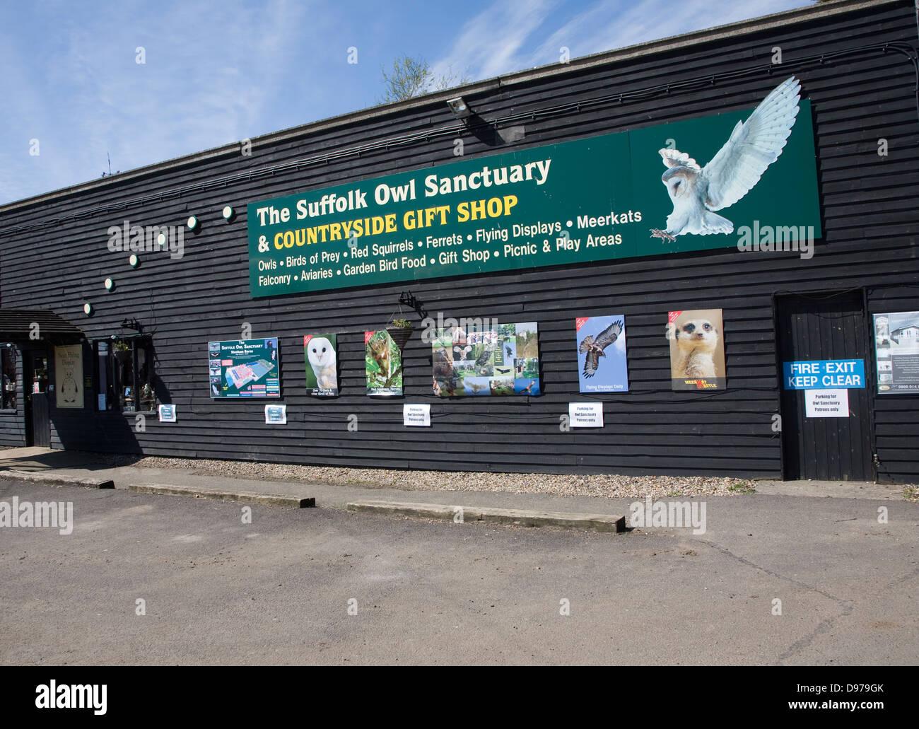 The Suffolk Owl Sanctuary building, Stonham Barns, Suffolk, England - Stock Image