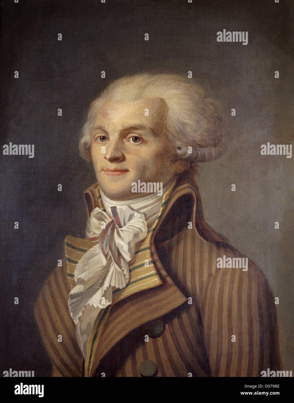 Maximilien de Robespierre 1793 Carnavalet Museum - Paris - Stock Image