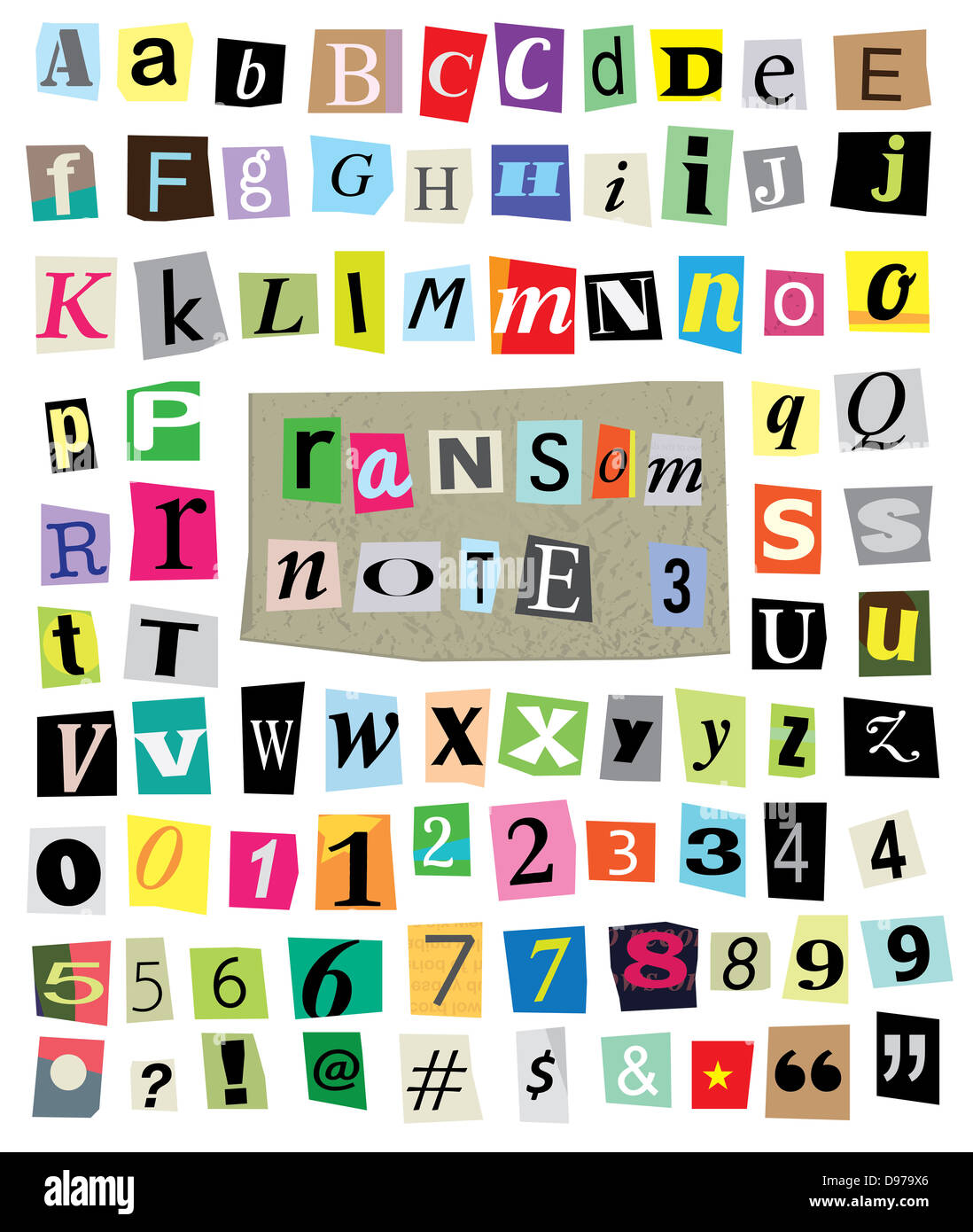 Cut newspaper and magazine letters numbers and symbols mixed cut newspaper and magazine letters numbers and symbols mixed upper case and lower case and multiple options for each one spiritdancerdesigns Images