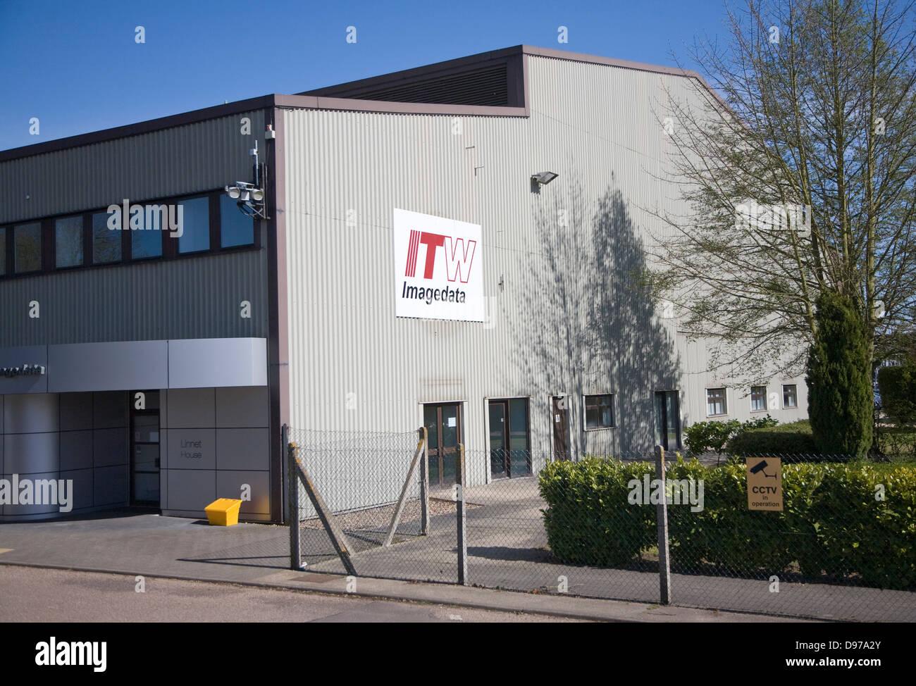 ITW Imagedata factory at Brantham, Suffolk, England - Stock Image