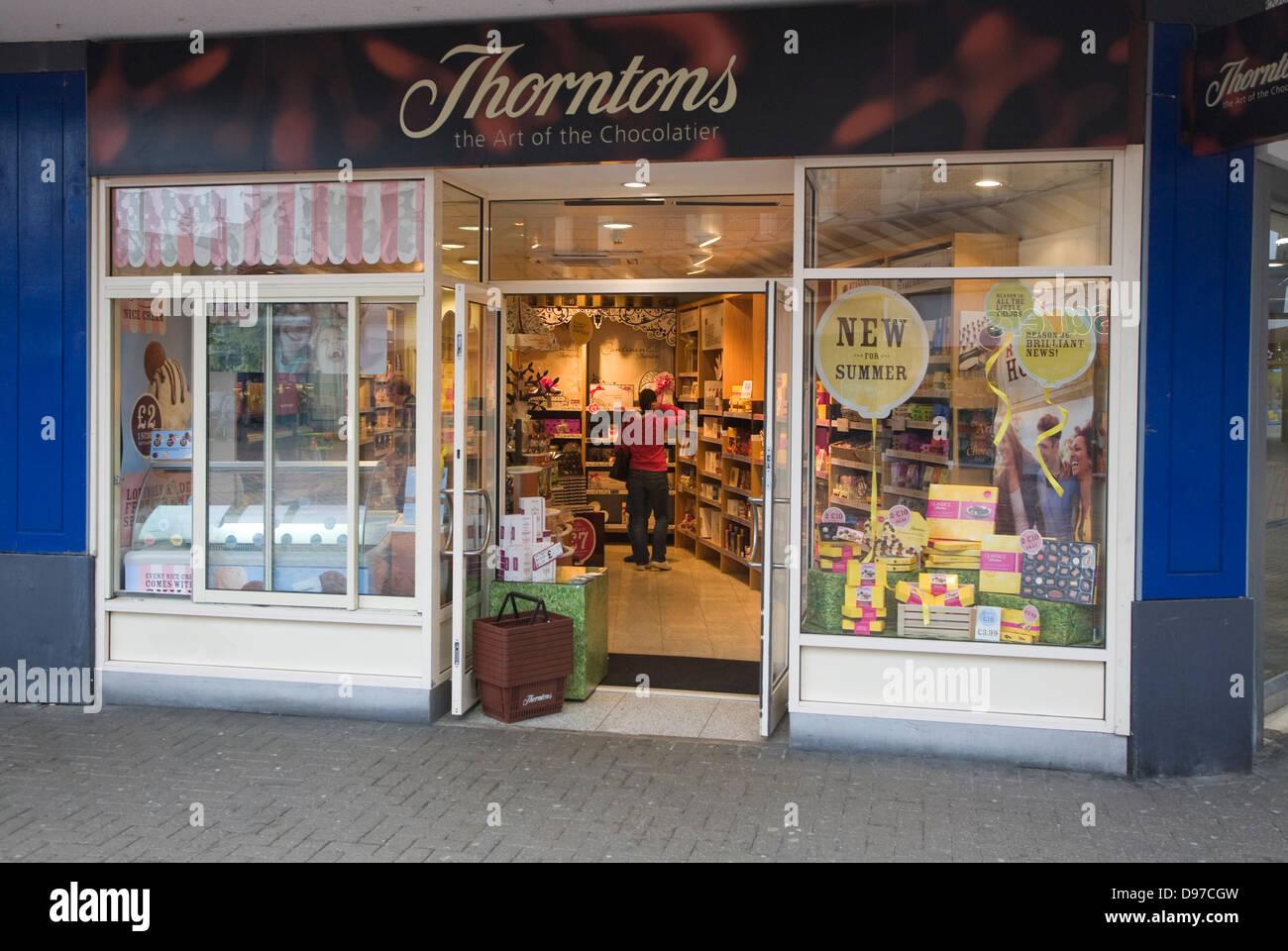 Thorntons chocolatier  shop Swindon, Wiltshire, England, UK - Stock Image