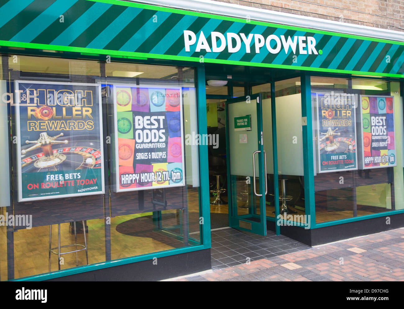 Paddypower bookies shop Swindon, Wiltshire, England, UK - Stock Image