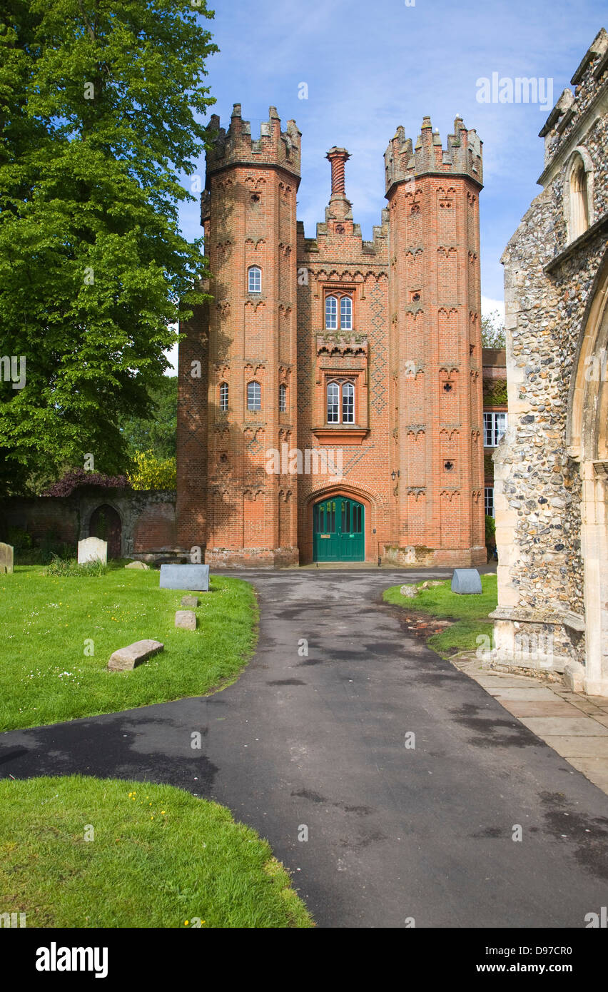 Deanery Tower, built in 1495 by Archdeacon Pykeham, Hadleigh, Suffolk, England - Stock Image