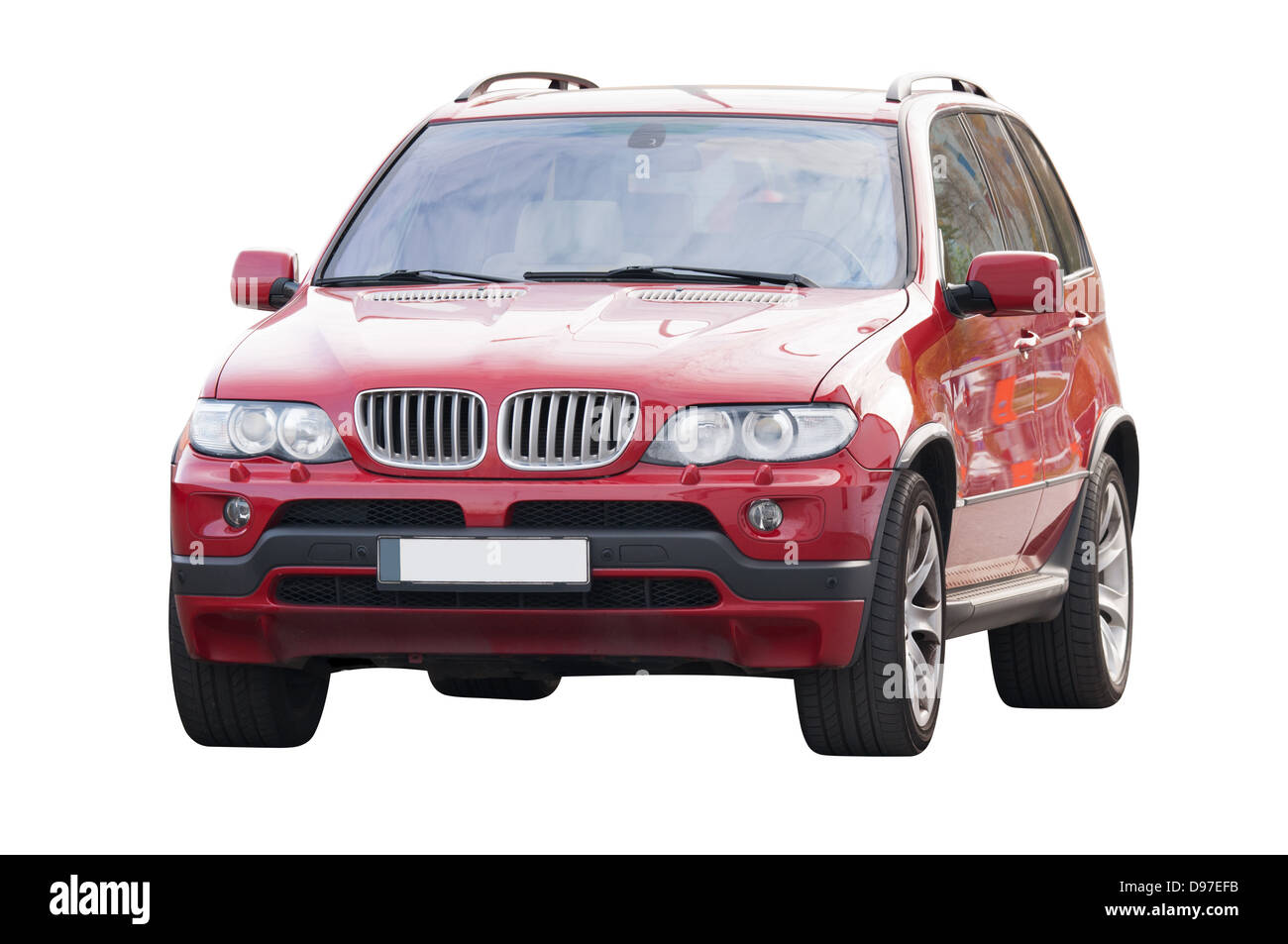 Sporty modern powerful german landscape car from 2000's - Stock Image