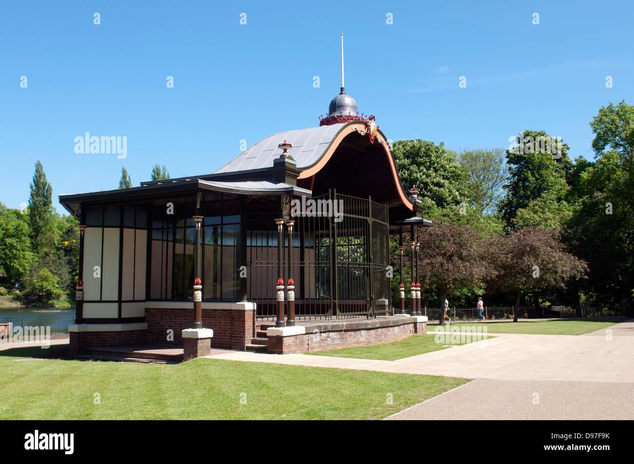 The bandstand, Walsall Arboretum, West Midlands, England, United Kingdom - Stock Image