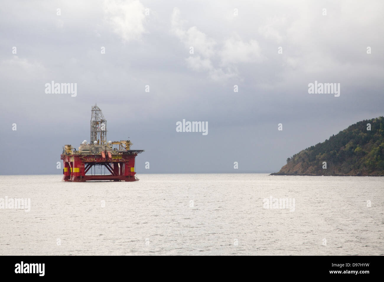 Oil drilling rig  Stena Don Semi submersible vessel Invergordon Cromarty Firth Stock Photo