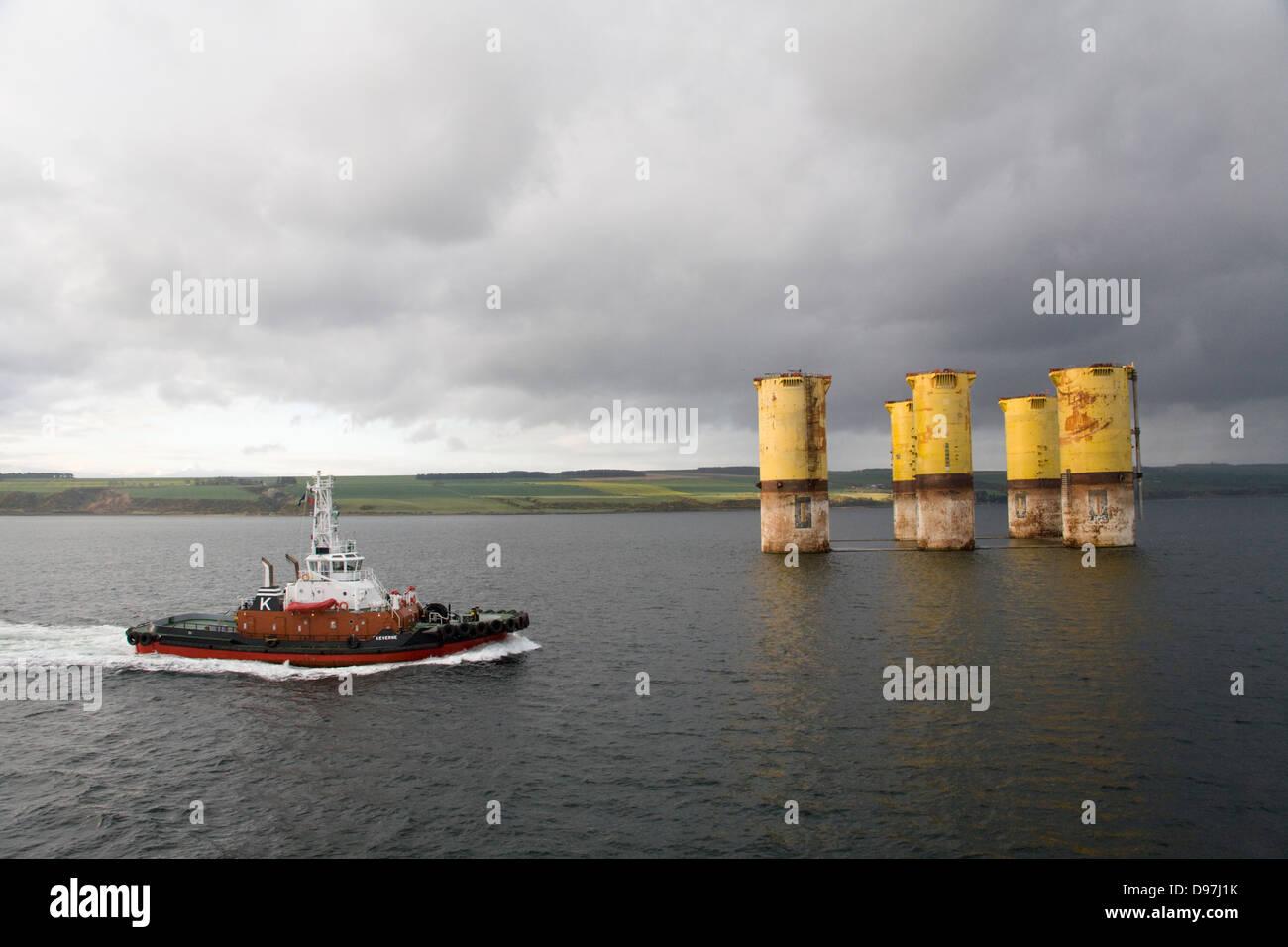 Tugboat Vessel Ship Invergordon Cromarty Firth Stock Photo