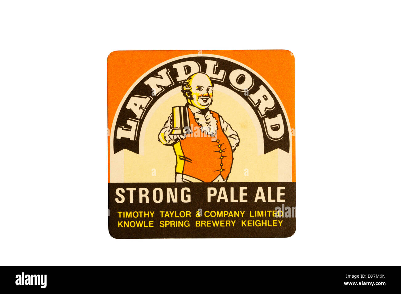 Landlord Strong Pale Ale beer mat. Stock Photo