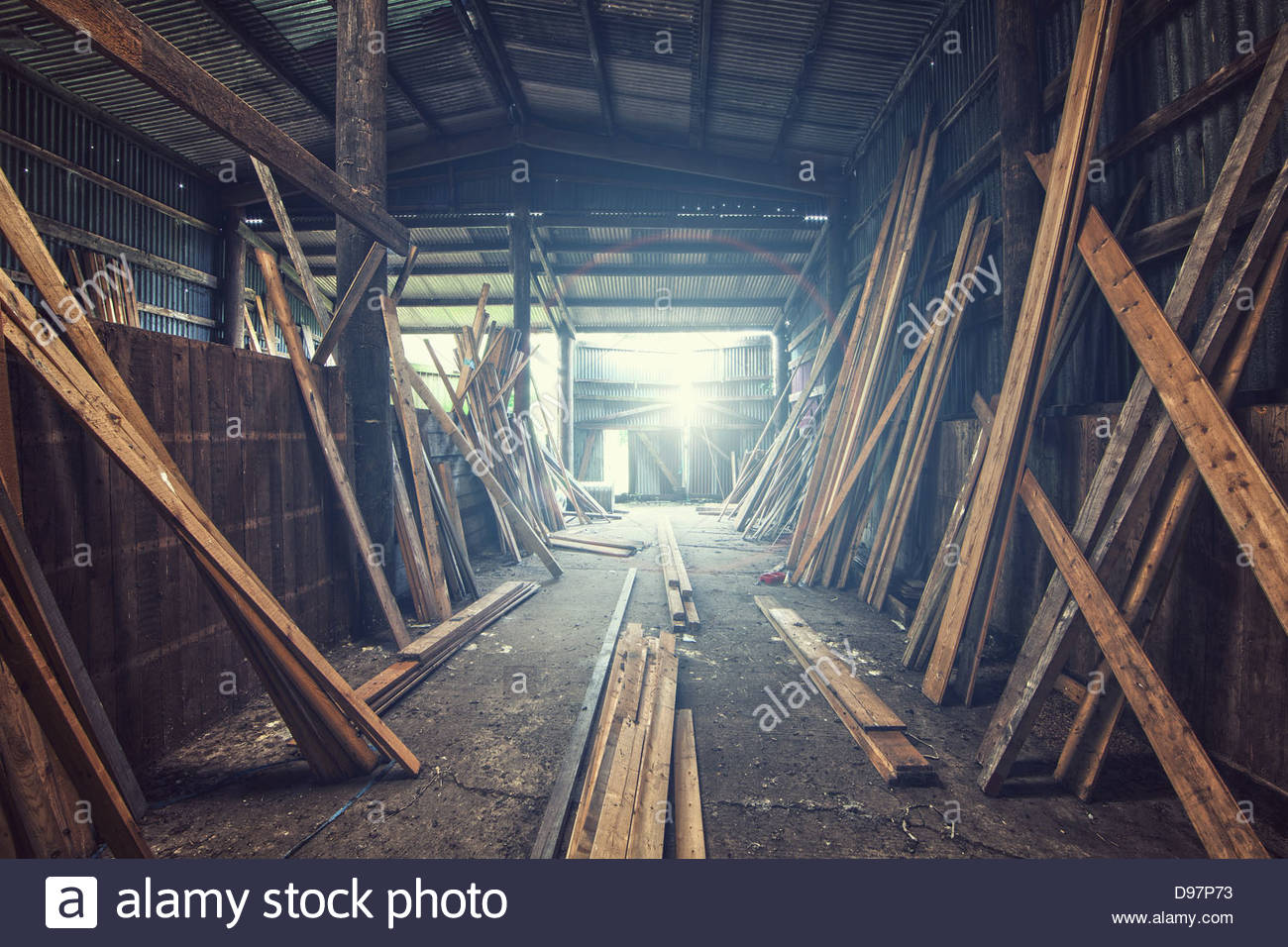 timber yard Stock Photo
