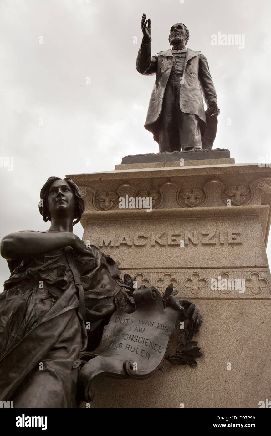 Statue monument of 2nd prime minister of canada alexander mackenzie - Stock Image