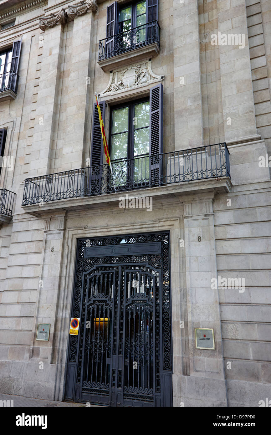 catalonian department of culture and media barcelona catalonia spain - Stock Image