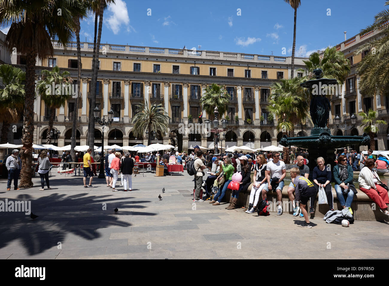 placa reial barcelona catalonia spain - Stock Image