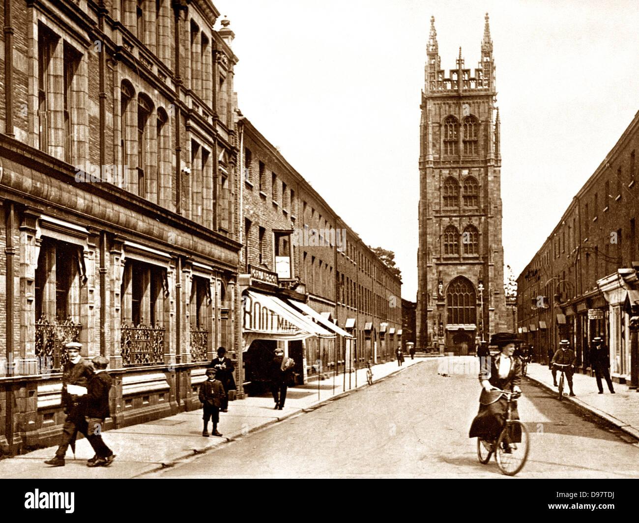 Taunton St. Mary's Church early 1900s - Stock Image