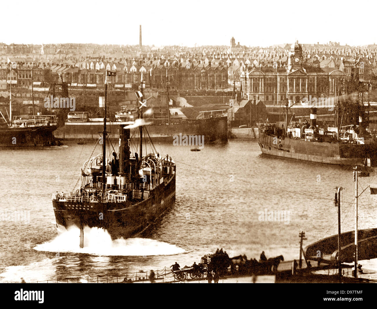 Barry Docks early 1900s - Stock Image