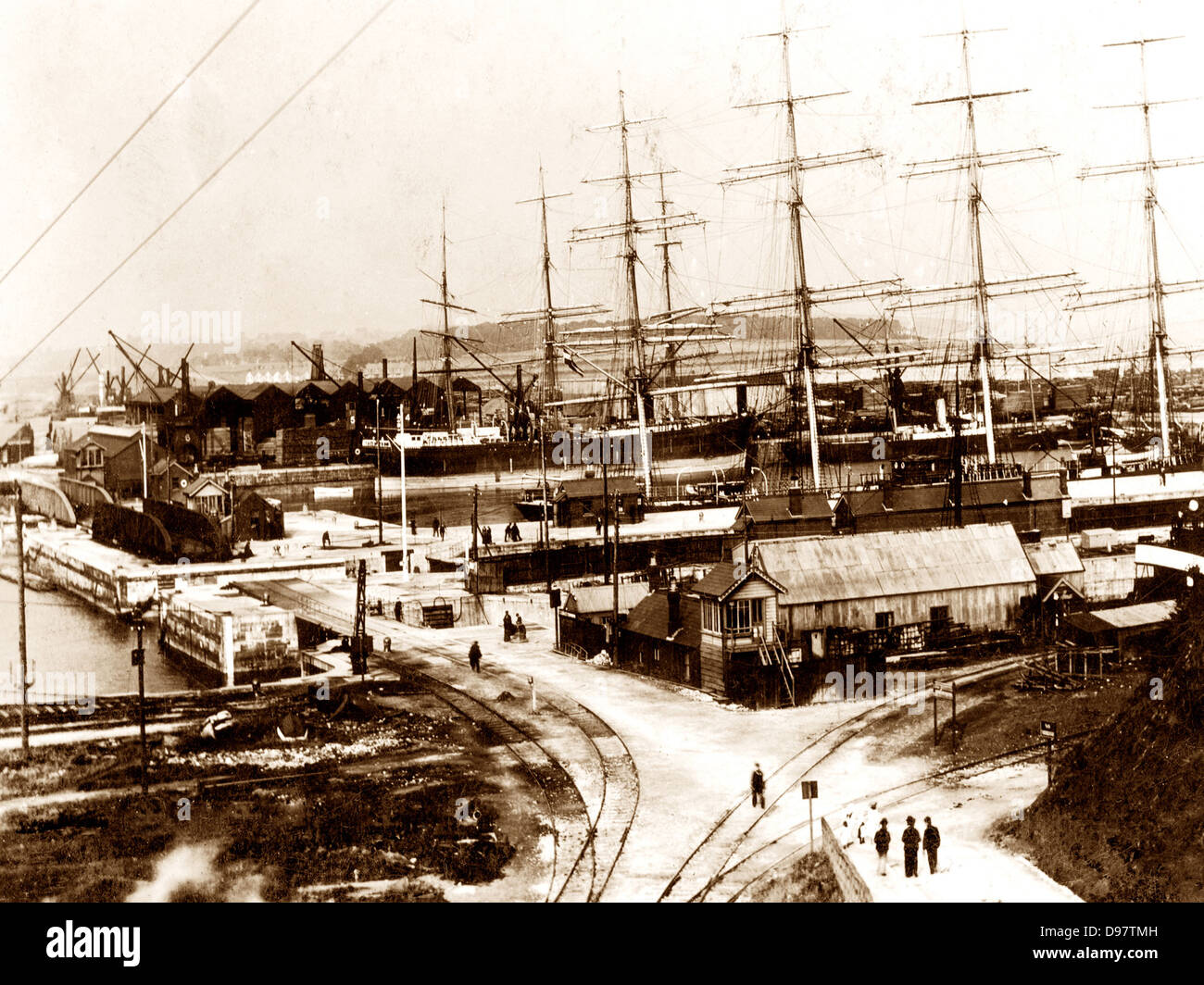 Barry Docks Entrance Victorian period - Stock Image