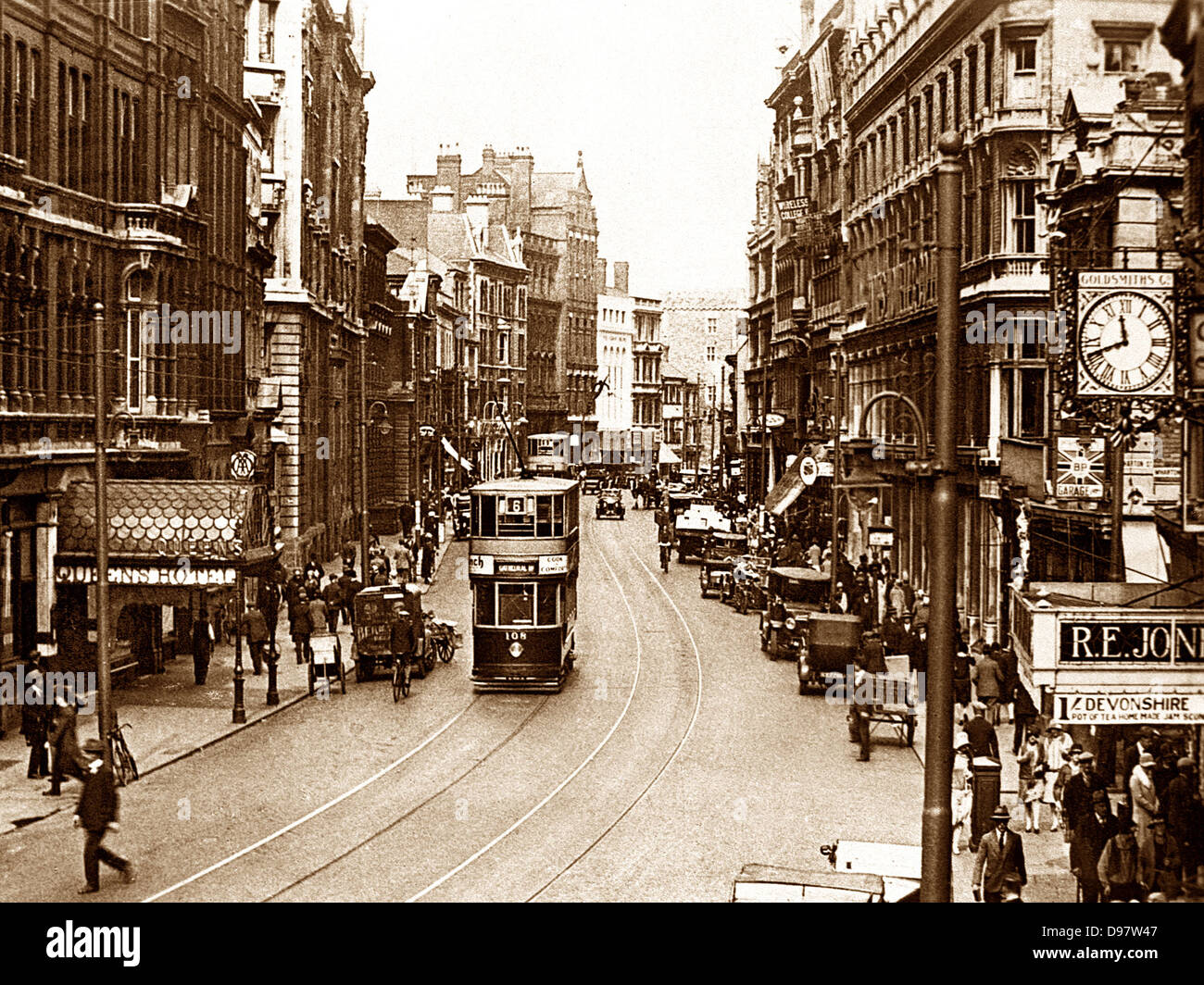 Cardiff St. Mary's Street early 1900s - Stock Image