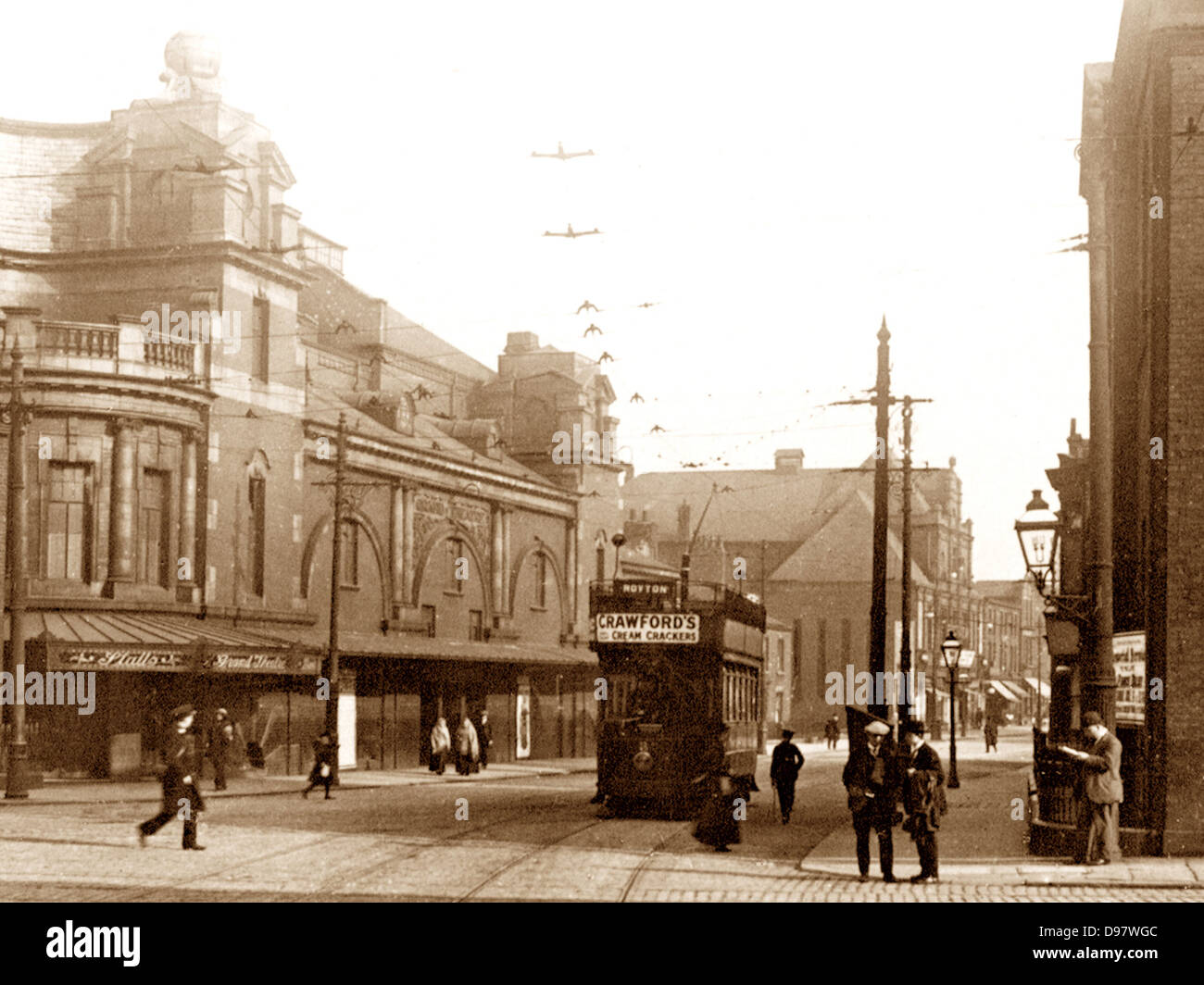 Oldham Grand Theatre King Street early 1900s - Stock Image