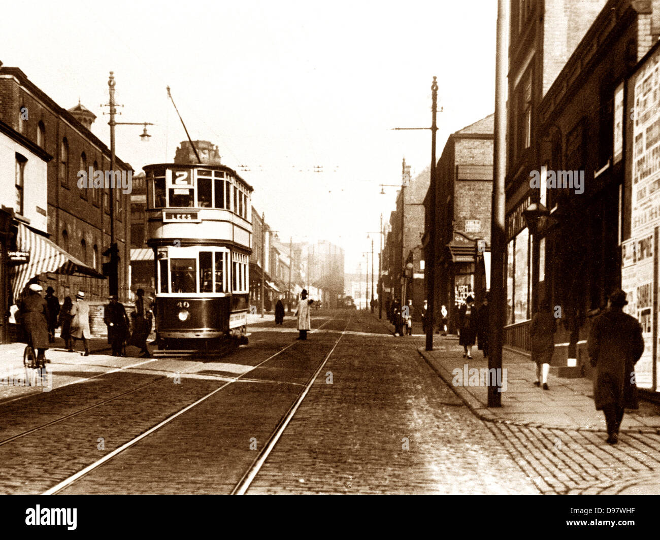 Oldham Manchester Street early 1900s - Stock Image