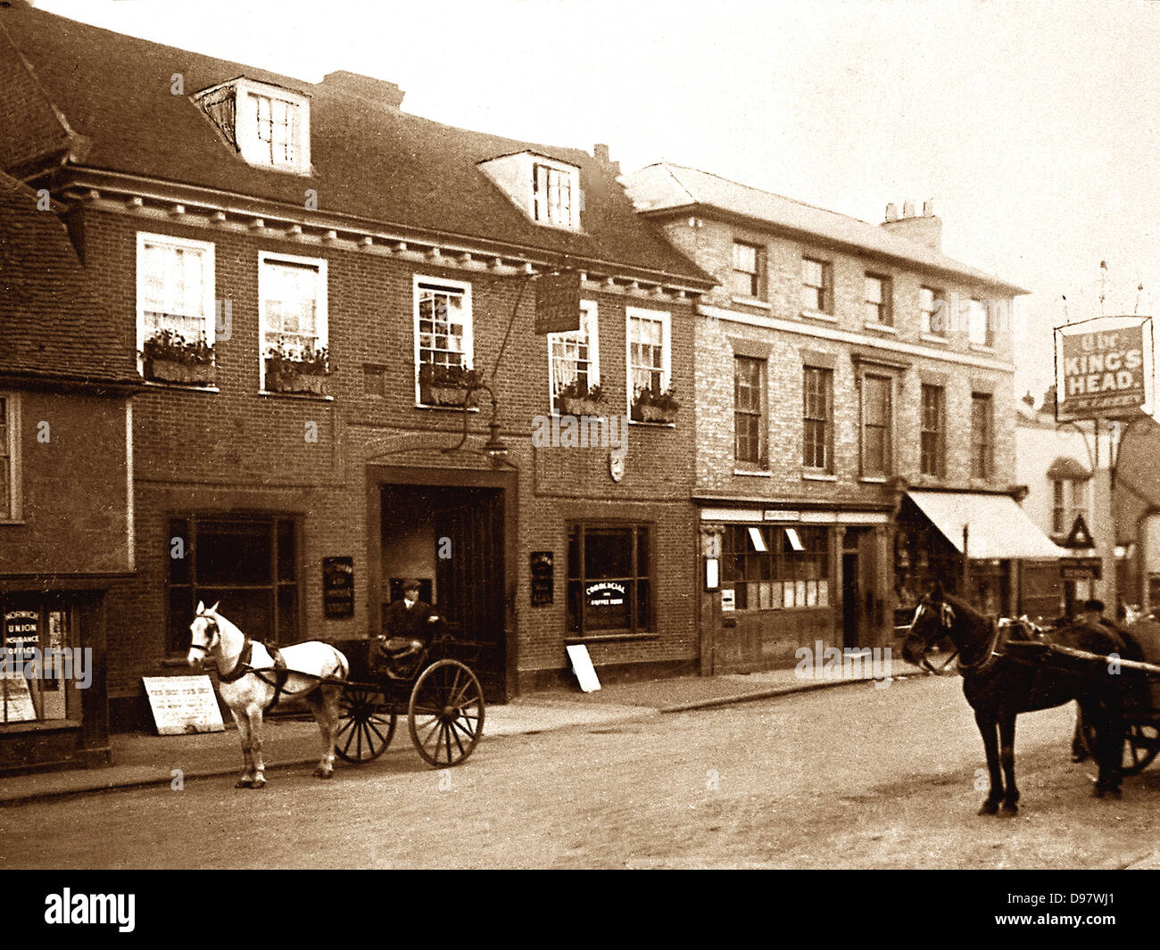 Ongar The King's Head early 1900s - Stock Image
