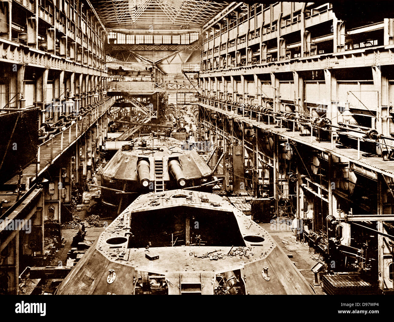 Newcastle-Upon-Tyne Elswick Works early 1900s - Stock Image