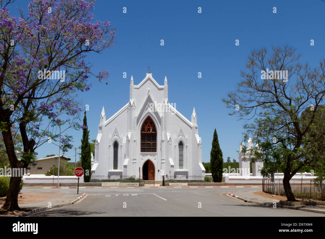 Church at Ladismith, South Africa - Stock Image