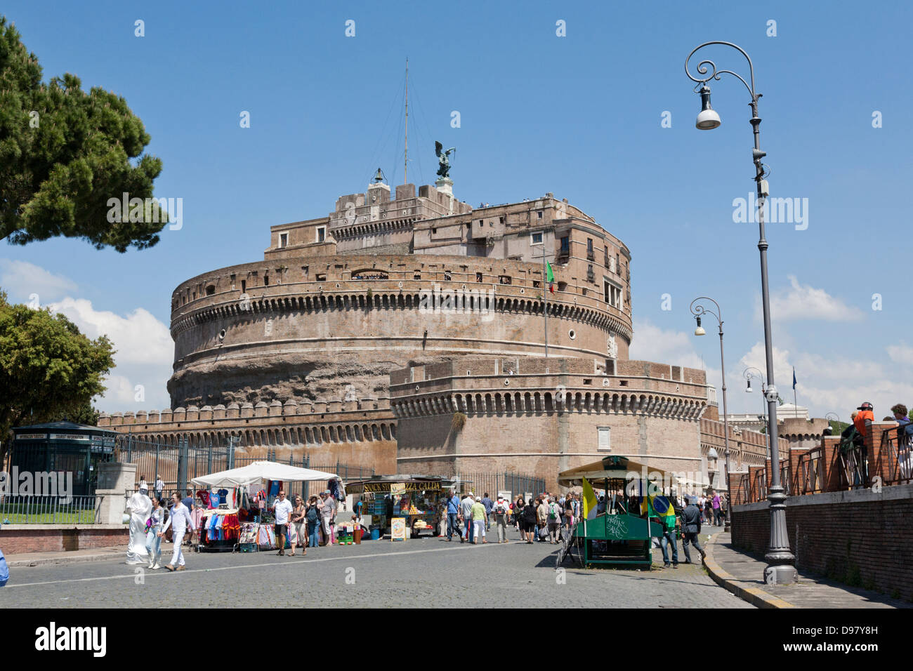 The Mausoleum of Hadrian, usually known as Castel Sant'Angelo - Stock Image