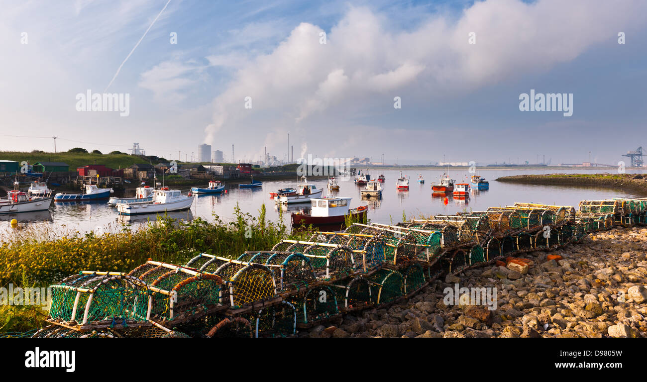 Early morning at Paddy's Hole, South Gare - Stock Image