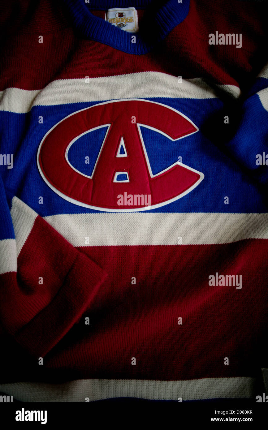 best service 0d618 cdf62 A Montreal Canadiens vintage sweater jersey Stock Photo ...