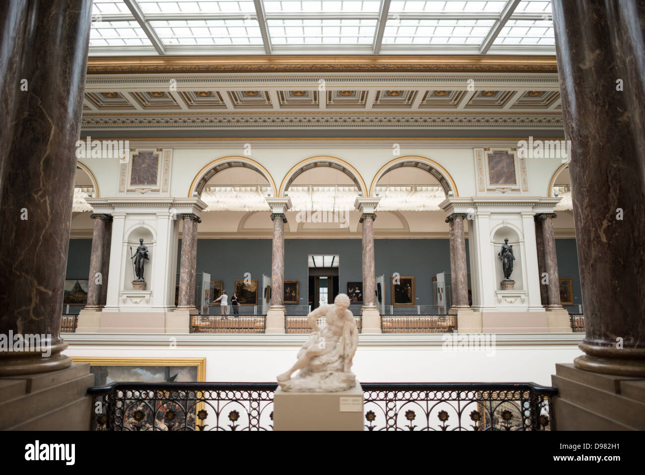 BRUSSELS, Belgium - at the Royal Museums of Fine Arts in Belgium (in French, Musées royaux des Beaux-Arts de - Stock Image