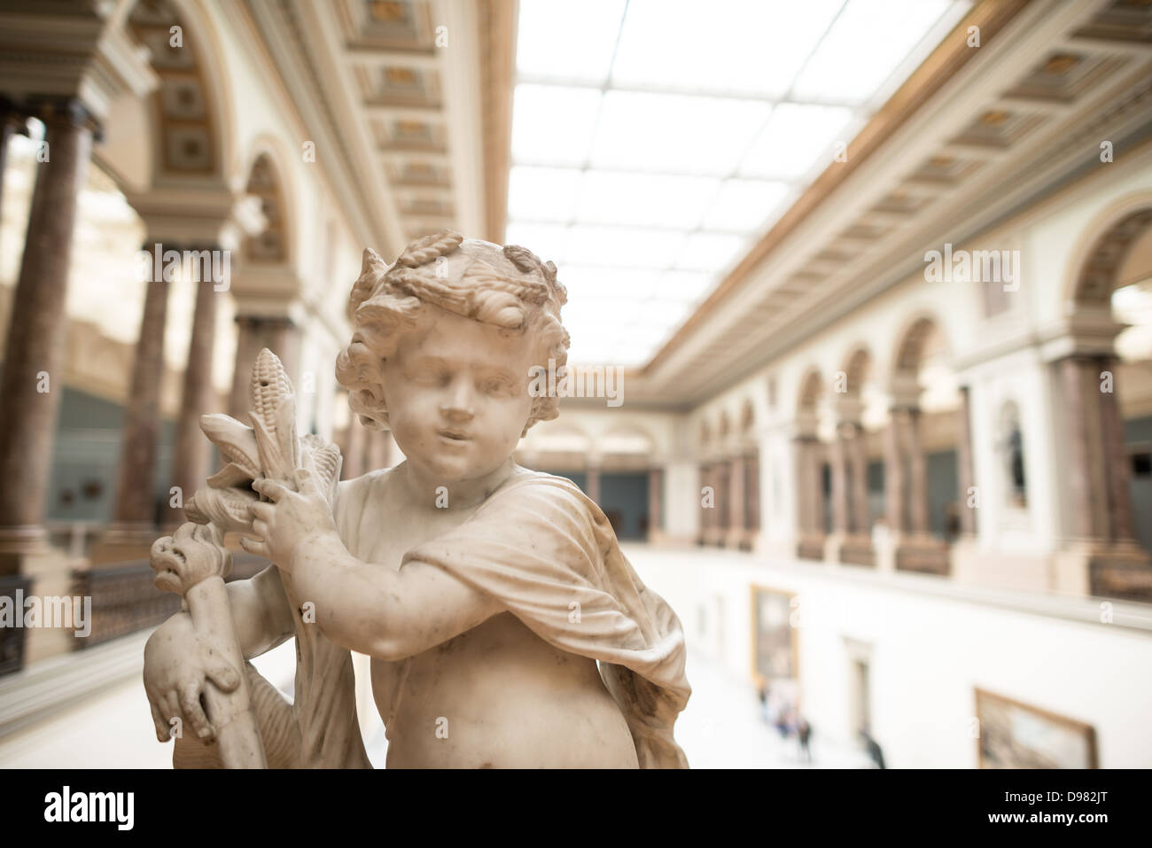BRUSSELS, Belgium - A 17th century sculpture by Ludovicus Willemsens (1630-1702) titled L'Abondance on display at Stock Photo