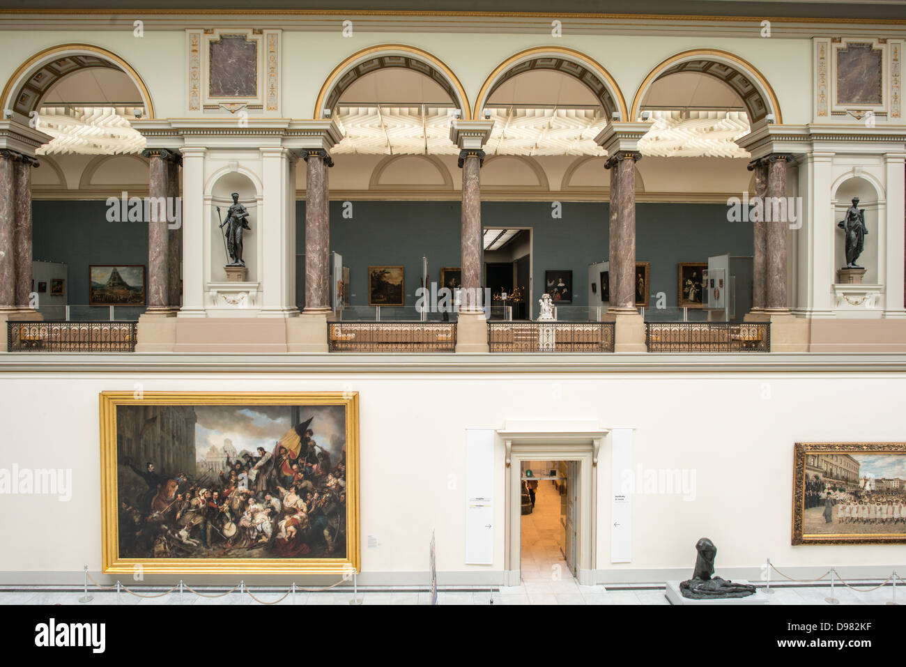 BRUSSELS, Belgium - The main hall at the Royal Museums of Fine Arts in Belgium (in French, Musées royaux des - Stock Image
