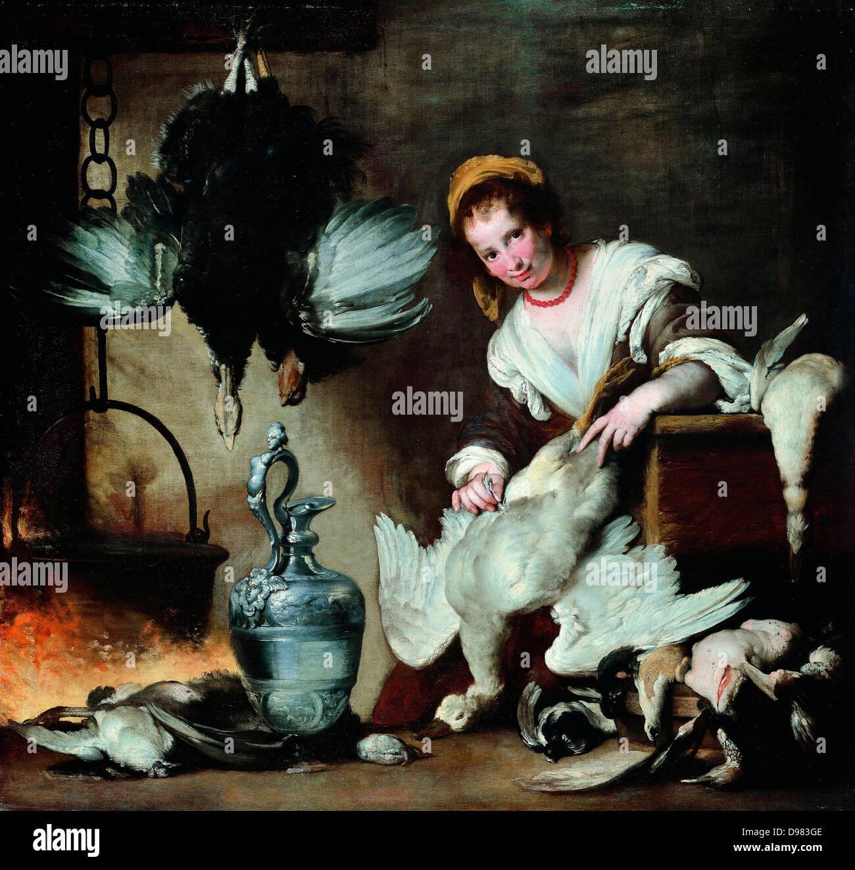 Bernardo Strozzi, The Cook. Circa 1625. Oil on canvas. Musei di Strada Nuova - Stock Image
