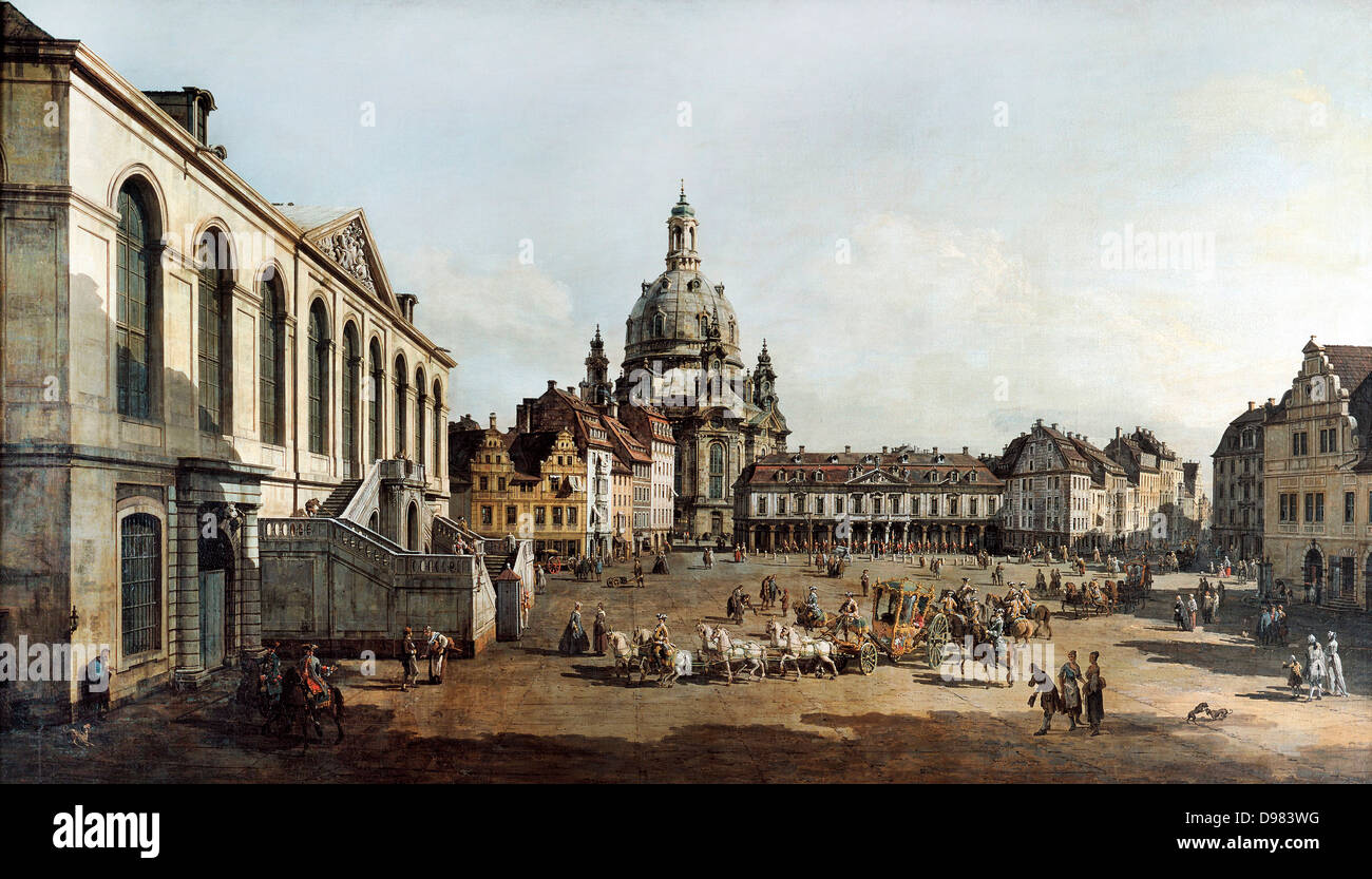 bernardo bellotto called canaletto view of the neumarkt in dresden stock photo 57341692 alamy. Black Bedroom Furniture Sets. Home Design Ideas